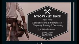 Carpenter, Painter & Decorator / Multi Trade