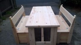 MADE BY HAND BEDS,DRESSERS,TV UNIT,DINING/COFFEE TABLES,SIDEBOARDS,GARDEN&PATIO BENCHES FROM £49 SEE