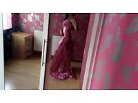 Pink mermaid occasion dress