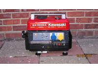 Kawasaki GA1400A portable generator 240V 110V 12V