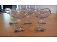 1950'S WHITE FAWN BABYCHAM GLASSES