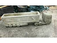 Large planter truck with trailer heavy and long