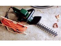 Black & Decker Hedge Trimmer 33cm / 13 inch - with long extension cord