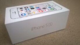 Apple iphone 5s - New - Sealed - Unlocked - Silver - Apple Warranty - 16GB