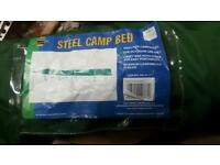 Steel camp bed