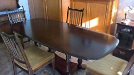DINING TABLE AND FOUR MATCHING CHAIRS - STAG MADRIGAL - YEW - IN EXCELLENT CONDITION