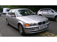 BMW 323i SE AUTO 1999 V REG MET SILVER 4 DOOR SALOON PAS A/C ONLY 78K MILES 1 OWNER FSH SUPERB!