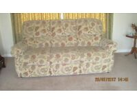 Large sofa and matching electric reclining chair