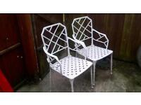 2 cast bestro chairs