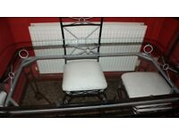 Wrought Iron Dinning Table & Chairs
