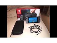 Grey Nintendo Switch + Zelda