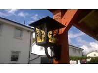 LOVELY METAL AND GLASS GARDEN LIGHT , LANTERN