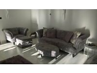 """DFS """"Concerto"""" suite comprising 4 seater and 3 seater sofas plus 1 armchair and 2 footstools."""