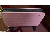 Pale pink retro style room heater