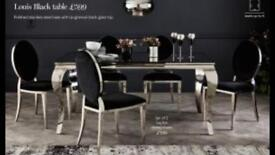 Dining table and 6 chairs from NEXT