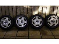 Full set of 4 16 inch Wheels and Tyres Mercedes, VW, Audi, Seat, Skoda