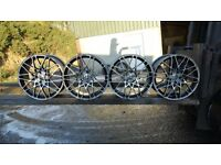 "Set of 18"" alloy wheels to suit Vauxhall"