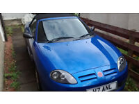 MG TF 115 MOT JUNE 2018 TROPHY BLUE 53 plate ONLY 55000 MILES