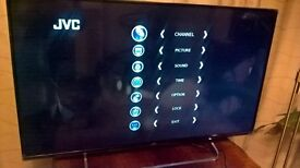 Brand new JVC 49 inch JVCLT49C350 with remote and stand