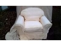 COMFORTABLE EASY CHAIR/SOFA TYPE WITH COVERS