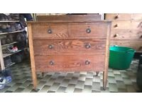 Wooden 4 drawer chest of drawers