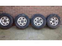 4 Tyres and wheels off 4x4 Ford Ranger £125