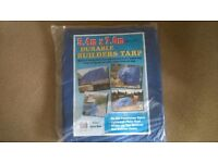 Blue Builders Tarpaulin 7.0 x 5.4mtr approx