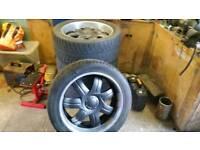 22 inch truck 5 stud wheels set of 4