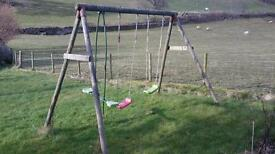 Child's swing with added toddler swing