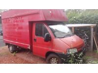 Boxer Luton Peugeot (Insulated) (£190) , NEED WORK, Welding of chassis needed- TRAILER needed