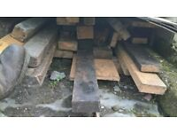 Assortment of reclaimed timber.
