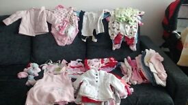 Baby girl clothes bundle 0-3, 3-6