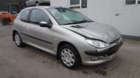2005 Peugeot 206 S 1.1 *** damaged repairable *** ONLY 60,985 miles ***