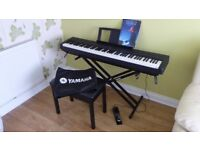 Yamaha P-35 Keyboard Like New Unwanted Gift + KS2 Stand, M Gear Pedal, Cover, Gear4Music Stool