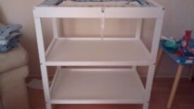 3 Tiered White Baby Changing Stand.