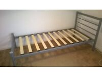 single bed silver frame veey good condtion