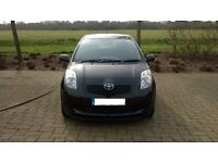 For sale used black Toyota Yaris 1.3TR Auto, petrol, 3-door, hatch back.
