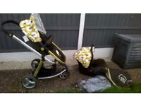 LOVELY CLEAN COSATTO GIGGLE PUSHCHAIR WITH CAR SEAT PLUS EXTRAS