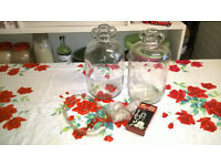 Two Glass Demijohns
