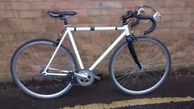 MANS RACING TRACK BIKE FIXIE WITH FLIP FLOP HUB
