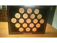 Manchester United gold plated championship winners coins..