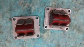 YAMAHA RD250LC RD 250 350 LC 4L0 4L1 FLOWED REED BLOCKS WITH AFTER MARKET FIBRE REEDS - PARTS SPARES