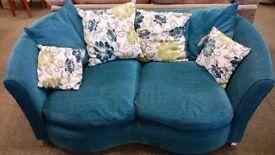 Pair of teal 2 seater sofas