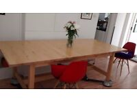 Solid wooden expandable dining table from Ikea