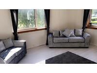 Crushed velvet 3+2 sofa