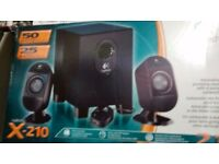 Logitech X210 50w Speakers - new and unused