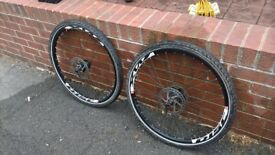 PAIR OF SHIMANO DEORE DISC WHEELS 26''