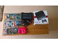 Sony Playstation 3, 16 games, Singstar, second controller & controller charger