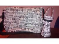 Mothercare laminated messenger changing bag streety