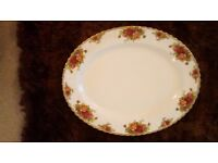 Royal Albert Old Country rose, serving/meat plate